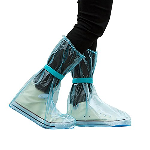 everd1487HH 1 par de Fundas de Zapatos Reutilizables y portátiles para Viajes, Antideslizantes, Impermeables, Botas de Lluvia para Mujeres y Hombres
