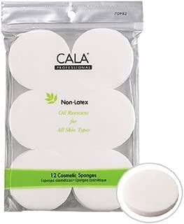 Cala Non Latex Round sponges 12 Count, 12 Count