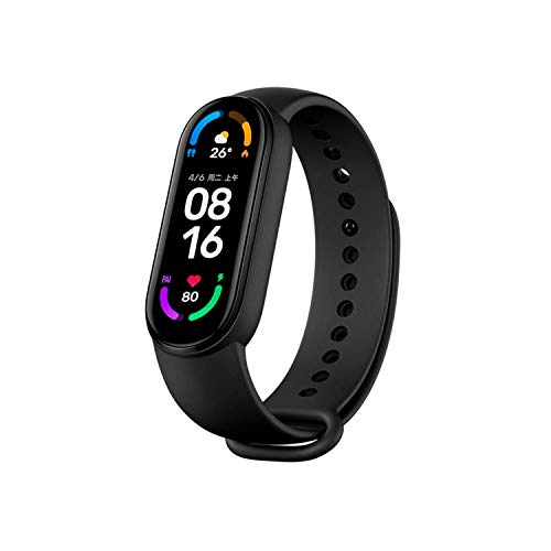 Para xiaomi mi banda 6 1.56 ''pantalla pulsera inteligente oxígeno sangre fitness Tracker monitor de ritmo cardíaco Bluetooth Smart Band sólo soporte Inglés y chino idioma
