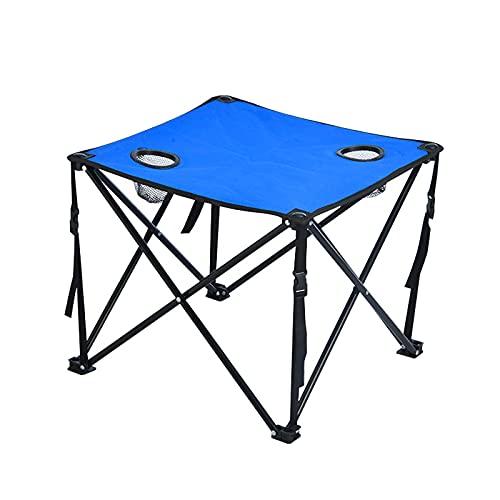Dreafly Faltbarer Camping Square Tisch im Freien Tragbares Oxford-Tuch mit Flaschenhalter-Netz für Picknick-Hochleistungs-Terrassentisch