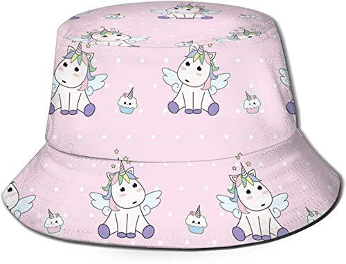 Unisex Diversi Cuccioli di Animali Stampa Cappello da Pescatore da Viaggio Cappello Estivo da Pescatore Cappello da Sole-Unicorno Carino