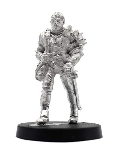 Stonehaven Miniatures Male Human Blademaster Miniature Figure, 100% Pewter Metal - 32mm Tall - (for 28mm Scale Table Top War Games) - Made in USA