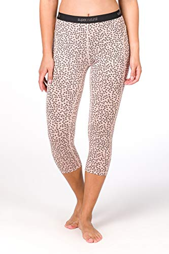 super. Natural W Base 3/4 175 Printed Femme en Laine mérinos Tight M Blush/Blush Stars