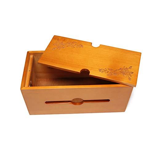 HOMYY Kabel-Management-Box,Kabelbox Kabelmanagement-Box für Schreibtisch Steckdosenleiste Kabelorganisation, Kabel Verstecken und Kabelaufbewahrung Hölzern Kunststoff