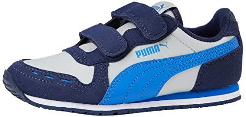 PUMA Unisex Baby Cabana Racer Sl V Ps Sneaker, Grau (High Rise-Peacoat-Palace Blue), 32 EU