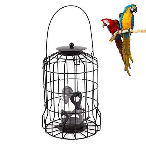 Lamps Comederos para pájaros Jaula de Hierro para Exteriores Comedero para pájaros Salvajes Herramienta de alimentación automática Colgante