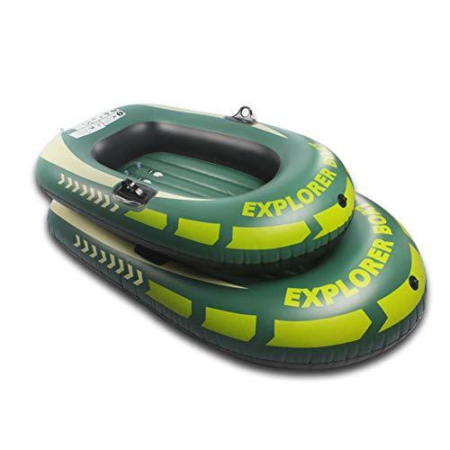 Buding - Bote hinchable para piscina Kayak con bomba, bote de goma para 1/2 personas, kayak plegable con funda exterior de poliéster, alta estabilidad en el agua, \., 2 Personen / 114X180cm