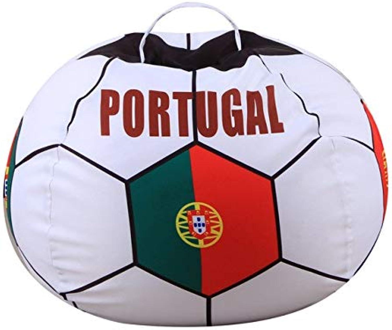 fd3674138 Football Shape Bag Stuffed Animal Storage Bean Bag Chair Kids ...