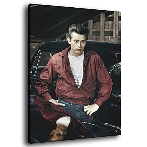 Póster decorativo de James Dean en Jeans de 60 x 90 cm
