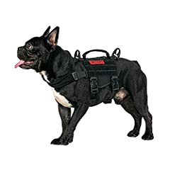 """🐶SIZE INFO: Neck Girth: 11""""-17"""";Chest Girth: 15""""-22"""";Back Length: 8.6"""";Waist Girth: 15""""-22""""; ❤SMALL DOG HARNESS WITH HANDLE: OneTigris BEAST MOJO tactical dog harness is made of high strength 1000D nylon, with a front slip-in design with UTX-duraflex..."""
