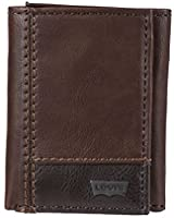 Levi's Men's Trifold Wallet-Sleek and Slim Includes Id Window and Credit Card Holder, Brown Two Tone, One Size
