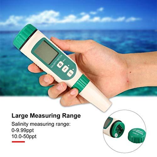 KinshopS Salz- und Salzmessgerät für Digital Tester Salinität Mini ATC
