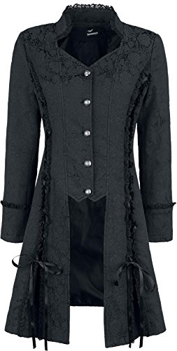 Banned Mantel Power Becomes HER Long LINE Jacket 6034 (EU-34, Schwarz)