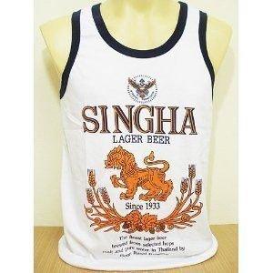 Thai Singha Beer Vest Shirt SIZE L