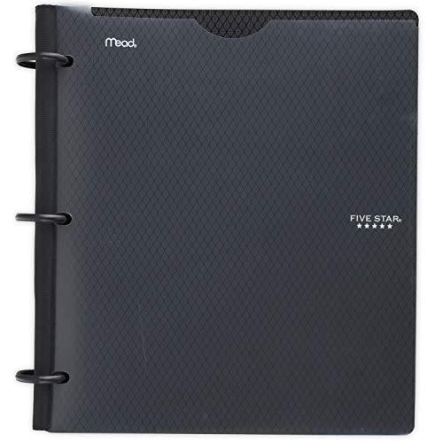 Five Star Flex NoteBinder, 1 Inch Binder, Customizable, Notebook and Binder All-in-One, Black (29326AA2)