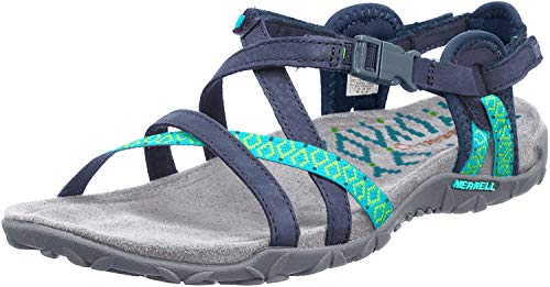 Merrell TERRAN LATTICE II, Damen Sandalen, Blau (NAVY), 38 EU (5 UK)