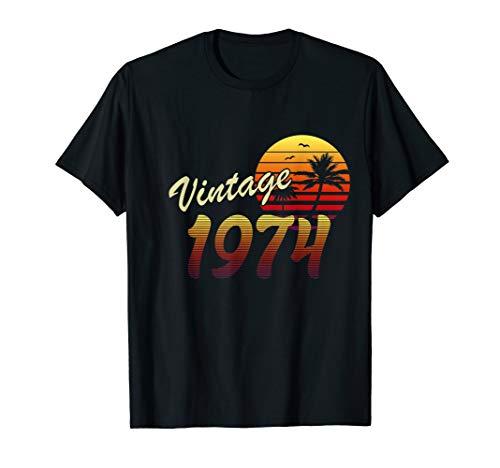 46. Geburtstag 46 Jahre Mann Frau Jahrgang 1974 Vintage 1974 T-Shirt