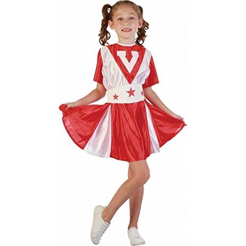 P'TIT CLOWN 80102 Déguisement Enfant Pom Pom Fille - L - Rouge