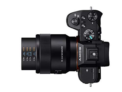 Sony SEL-50M28 Makro Objektiv (Festbrennweite, 50 mm, F2.8, Vollformat, geeignet für A7, A6000, A5100, A5000 und Nex Serien, E-Mount) schwarz
