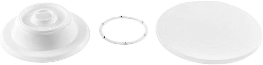 Plástico ABS de grado alimenticio 11 '' 28 cm Fabricación de pasteles Plato giratorio Decoración giratoria Plataforma redonda Pantalla giratoria Herramienta para hornear