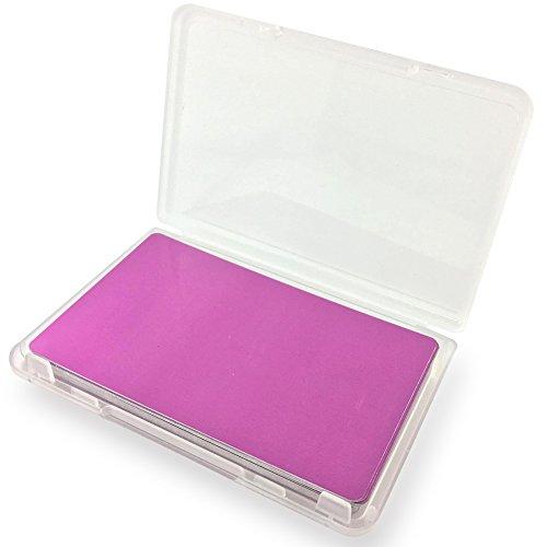 Ebamaz - Tarjeta de visita de metal para grabado láser o sublimación (86 x 54 x 0,2 mm, 25 unidades, color rosa, blanco, fino, no apto como tarjeta de visita de lujo)