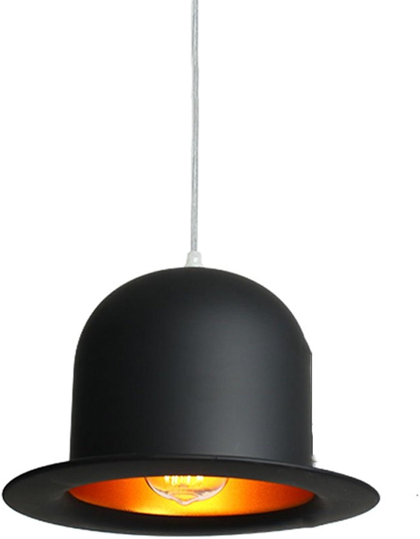 Kronleuchter Kronleuchter - Nordic kreative Hut Treppen Kronleuchter Einzelkopf dekorative Schmiedeeisen Kronleuchter (25cm  16cm)  Kronleuchter (Farbe   A-Warm light)