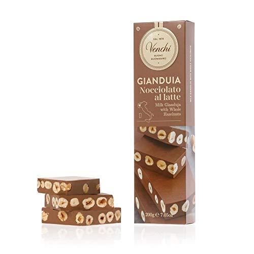 Barretta Gianduia al Latte con Nocciole Piemonte IGP Intere 200g - Snack...