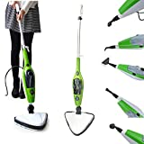 Electric Cleaner Floor Hot Steam Mop 10-in-1 Cleaner for Hardwood, Tile, Laminate Floors, Glass, Fabric, Metal, Carpet, Power Washer Hand Steamer with 3.5m Long Power Cord & 10 Accessories