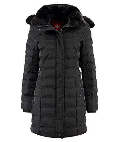 Wellensteyn Damen Winterparka SANL-382 Santorin Long, Farbe:schwarz, Größe:XS
