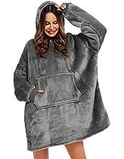 YEPLINS Oversized Hooded Sweatshirt, Sherpa Hoodie Sweatshirt Deken, Hooded Giant Sweatshirt Zachte Warm Wearable Gooi Deken