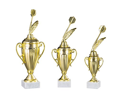 RaRu 3er-Serie Dart-Pokale mit Wunschgravur