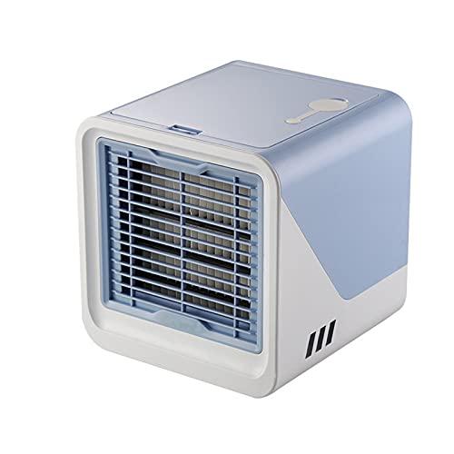 Mini 3-in-1-tragbare Klimaanlage Air Cooler - Luftbefeuchter - 3-Gang-ruhig tragbarer Klimaanlagen-Fan USB-Aufladung für Home Office (Farbe : Blue)