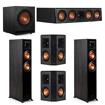 Klipsch 5.1 System with 2 RP-5000F Floorstanding Speakers 1 Klipsch RP-404C Center Speaker 2 Klipsch RP-402S Surround Speakers 1 Klipsch SPL-100 Subwoofer