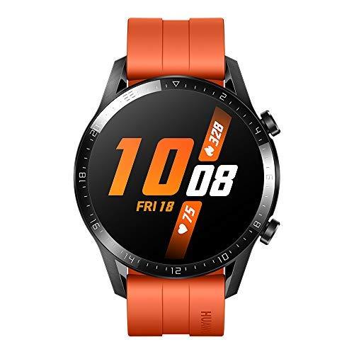HUAWEI Watch GT 2 Smartwatch 46 mm, Durata Batteria fino a 2 Settimane, GPS, 15 Modalità di Allenamento, Display del Quadrante in Vetro 3D, Chiamata Tramite Bluetooth, Sunset Orange