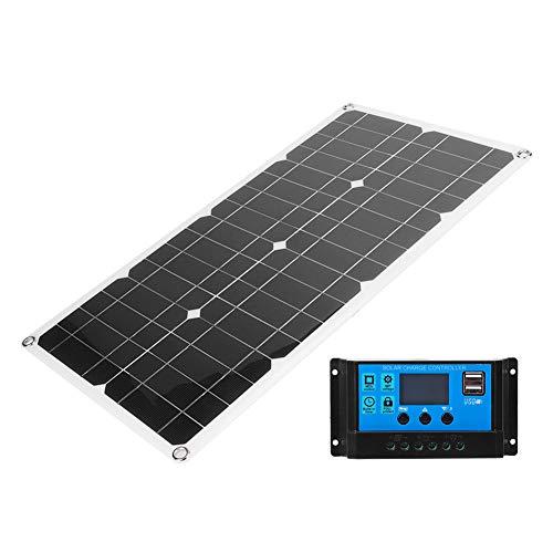 Qinlorgo Pannello solare policristallino monocristallino USB pannello solare esterno per caravana di ricarica batteria, telefoni di barca RV RC(10A)