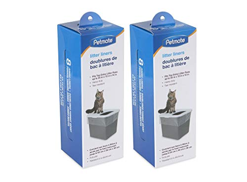Petmate Top Entry Litter Pan Liners for Cat (16-Count)