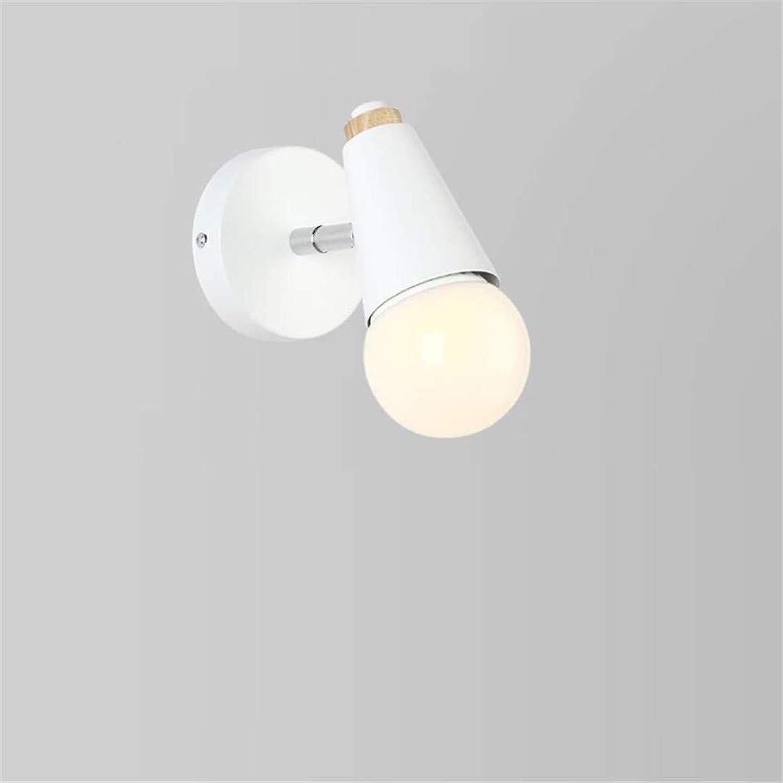 OwentsWall Lamp Nordic Wall Weiß Wandleuchte Modern Creative Simple Nachttischlampe Wandleuchte Fashion Round Head Led Schlafzimmer Ganglichter