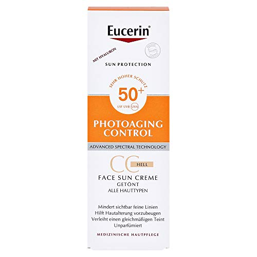 Eucerin Sun Creme getönt hell LSF 50+ + gratis Eucerin Sun Oil Control Body LSF50+ 50 Milliliter