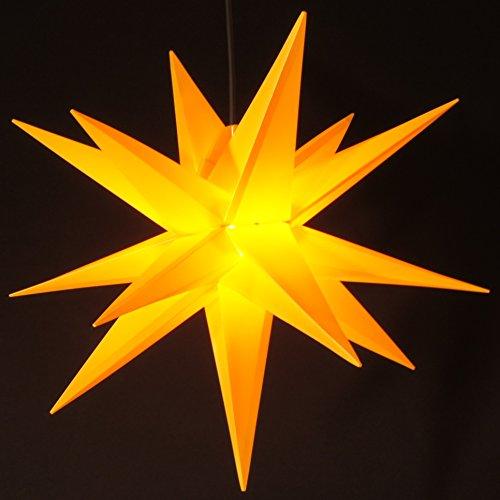 Außenstern Stern wetterfest gelb Kunststoff außen Adventsstern Weihnachtsstern
