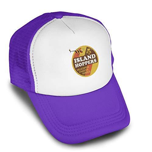 Magnum Pi Island Hoppers Baseball Cap Adjustable Hip Hop Flat Hats Men Womens Cool Peaked Trucker Hats Purple