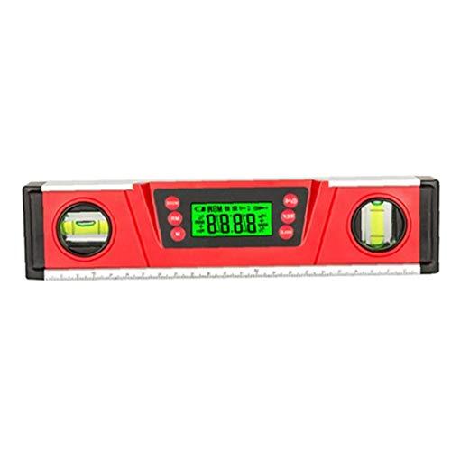 lulongyansf Digitale Wasserwaage Winkelmesser V-Groove Magnetfuß DL136 Elektronische Blase Inclinometer Rot für die Industrie