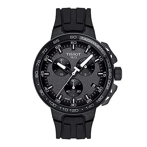 TISSOT Herren Analog Quarz Uhr mit Silikon Armband T1114173744103
