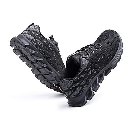 [Hitmars] 安全靴 メンズ あんぜん靴 レディース 作業靴 ふみぬき防止 スニ一カ一 軽量 むれない 軽業 鉄芯入り セーフティーシューズ おしゃれ 耐油性 耐滑 鋼先芯 工事現場 黒 23.5�p