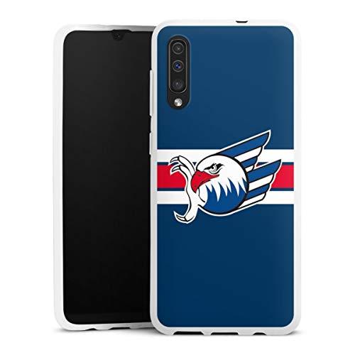 DeinDesign Silikon Hülle kompatibel mit Samsung Galaxy A50 Hülle weiß Handyhülle Eishockey Logo Adler Mannheim