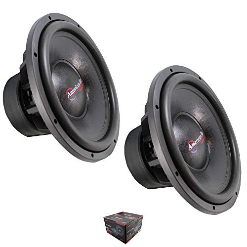 "Pair of American Bass Titan 1544 15"" 6000 Watt Dual 4 Ohm Voice Coil Subwoofer"