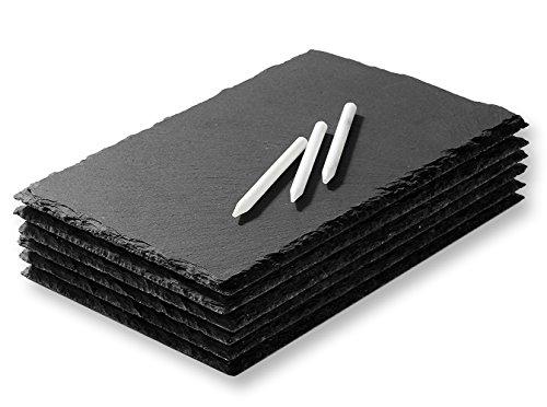 Juvale Mini Slate queso juntas–Juego bandejas