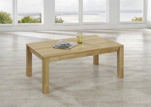 SAM® Massiver Esszimmer Couch-Tisch Bastian, 110 x 70 x 43 cm, Esstisch aus Kernbuche, Esszimmertisch mit natürlicher Maserung, exklusiver Holztisch für Ihre Wohnung
