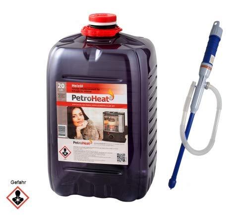 CAGO Petroleum 20 L Liter Kanister Petroleumofen Heizofen Petroleumpumpe elektrische Pumpe batteriebetrieben