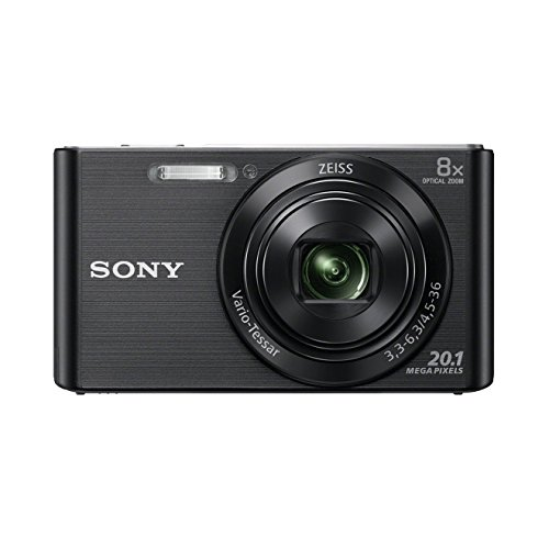 Sony DSC-W830 Fotocamera Digitale Compatta con Sensore Super HAD CCD da 20.1 MP, Zoom Ottico 8x, Video HD, SteadyShot Ottico, Nero