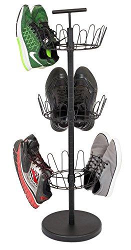 Internet's Best 3 Tier Metal Shoe Tree - Black Finish - 18-Pair Shoe...